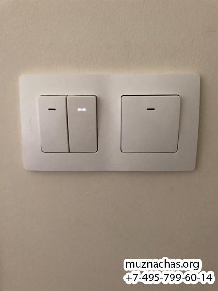 установленный двухполосный выключатель