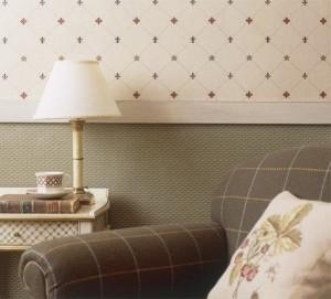 Горизонтальное разделение цветов на стенах