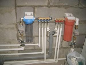 Монтаж гребёнки водоснабжения
