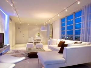 установка освещения в гостиной