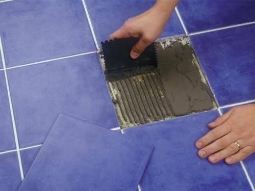 замена плитки в ванной