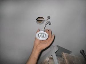 Установка светильника в гипсокартон